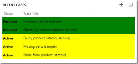 Adding Row Colours to CRM 2013 Sub-Grids dynamically based on value in cells (1/2)