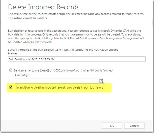 how to delete after import new
