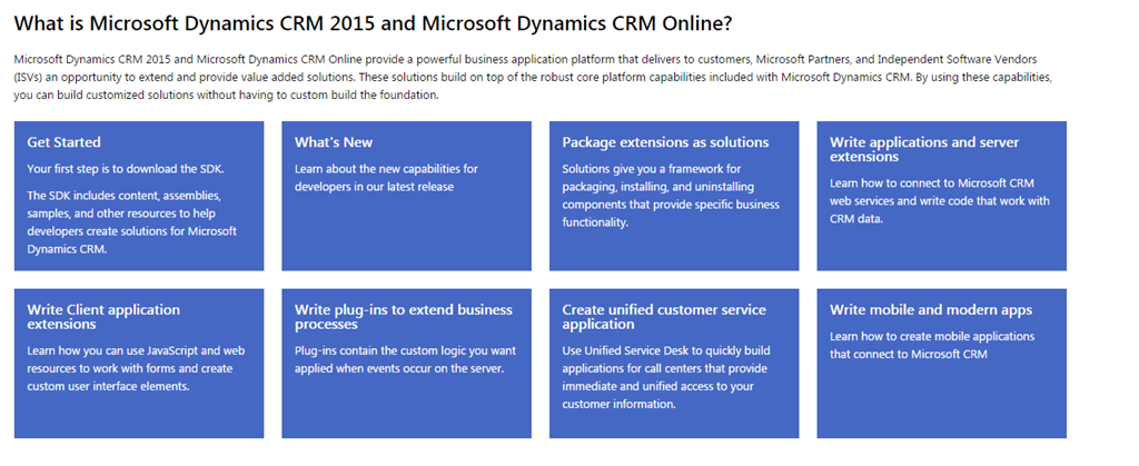 USEFUL to KNOW} Restructuring of Microsoft CRM Developer