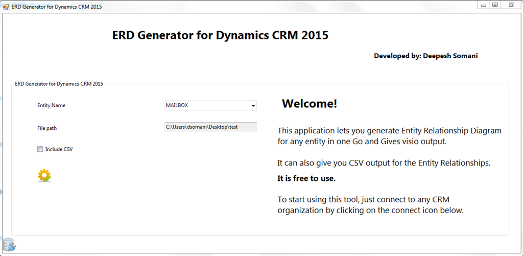 New versionerd generator tool for crm 2015 msdynamicsblog by deepesh for older crm 20112013 refer following link ccuart Images